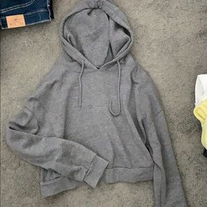 Urban Outfitters gray cropped hoodie